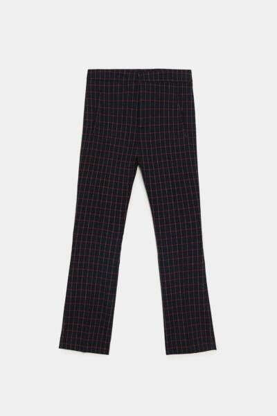 Pantalon à carreaux, Zara, 39,95€
