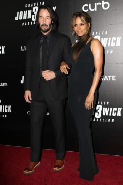 Halle Berry et Keanu Reeves à l'avant-première du film John Wick