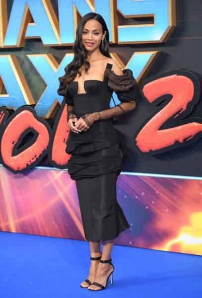 Zoe Saldana a 40 ans : la robe de gala