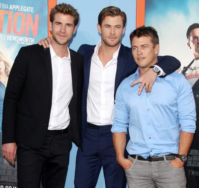 Liam, Chris et Luke Hemsworth forment à eux trois la plus belle brochette d'Australie