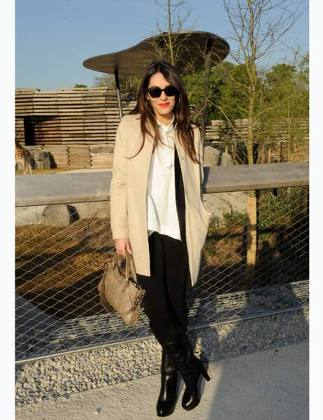 Look safari chic pour Sofia Essaïdi