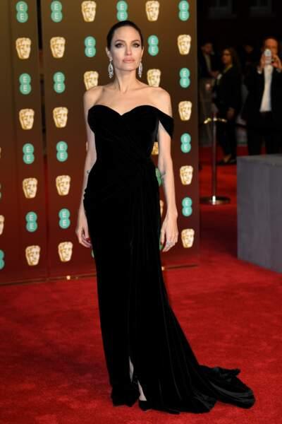 Angelina Jolie aux BAFTA Film Awards 2018 à Londres, le 18 février
