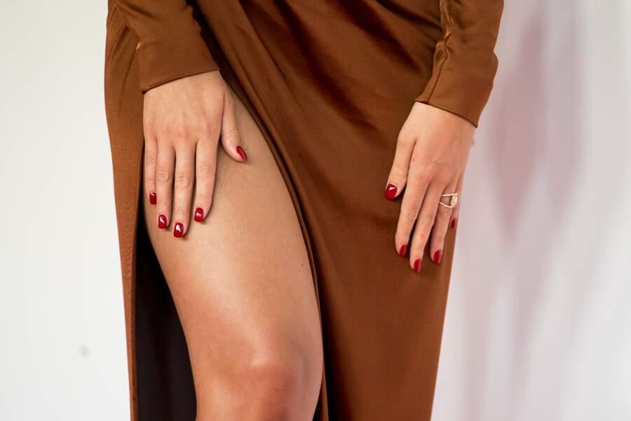 Georgina Rodriguez a dévoilé ses sublimes jambes sur le photocall