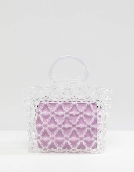 Pochette rigide ornée de perles avec pochette contrastante amovible, Asos Design, 30,99€ au lieu de 62,99€
