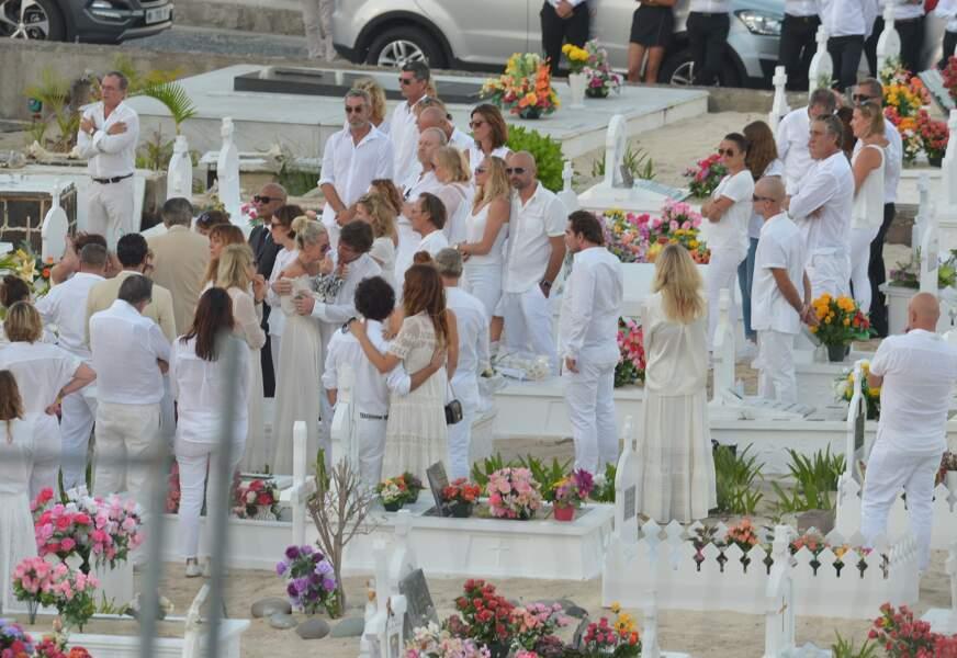 Obsèques de Johnny Hallyday à Saint Barth : Laeticia Hallyday, Laura Smet et David Hallyday