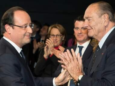 Jacques Chirac affaibli mais heureux aux côtés de François Hollande