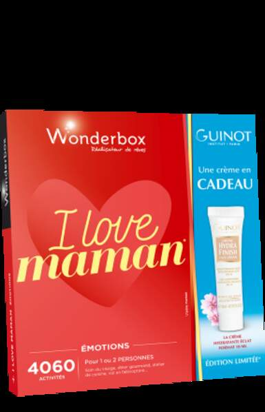 Coffret Wonderbox I love Maman : 49€