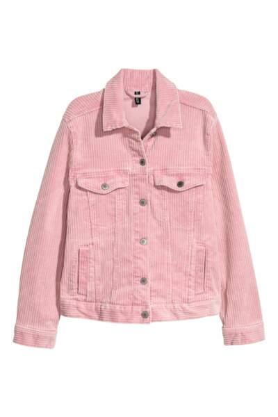 Veste en velours côtelé, H&M, 19,99 euros au lieu de 39,99 euros