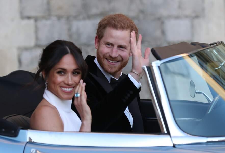 Le prince Harry et sa femme Meghan Markle prennent la route pour la soirée à Frogmore House