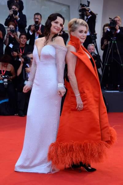 Juliette Binoche et Catherine Deneuve à la Mostra de Venise 2019