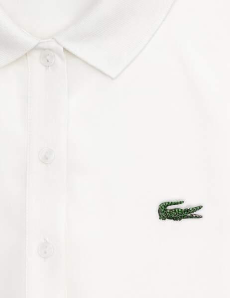 Boucheron célèbre les 80 ans de Lacoste. Broche crocodile en or blanc, diamants et saphir noir