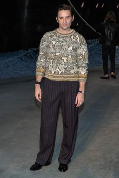 Nicolas Maury au défilé Chanel croisière 2018, le 3 mai au Grand Palais