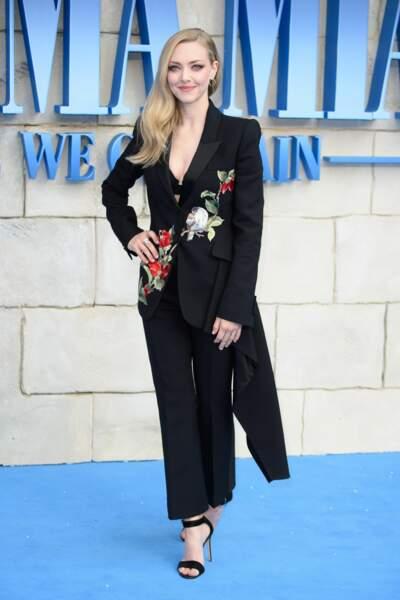 Amanda Seyfried à l'avant-première de Mamma Mia 2 à Londres, le 16 juillet
