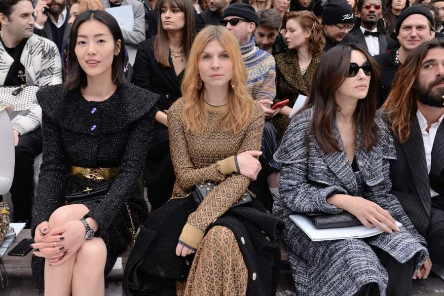 Clémence Poesy et Monica Bellucci au défilé Chanel automne-hiver 2019-2020 pour un dernier hommage