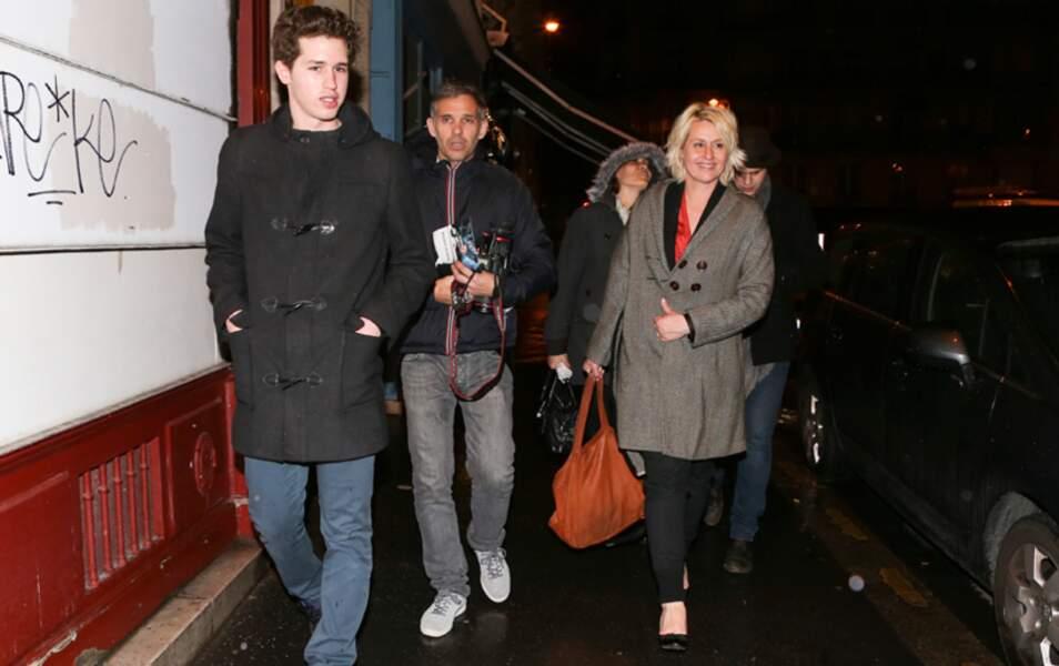 Paul Belmondo, sa femme Luana et leur fils Alessandro étaient bien sûr présents