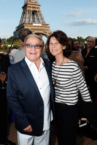 Orlando et Sylvie Rousseau à l'anniversaire de Line Renaud à Paris
