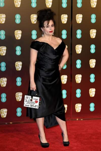 Helena Bonham Carter aux BAFTA Film Awards 2018 à Londres, le 18 février