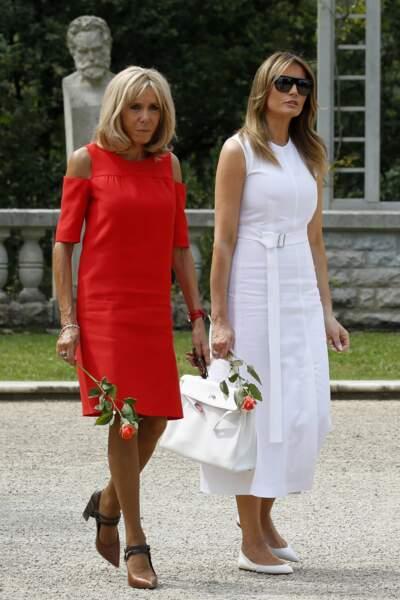 Brigitte Macron et Melania Trump au pays basque