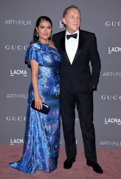 Salma Hayek et son époux, François-Henri Pinault 2017 LACMA Art + Film Gala - LA