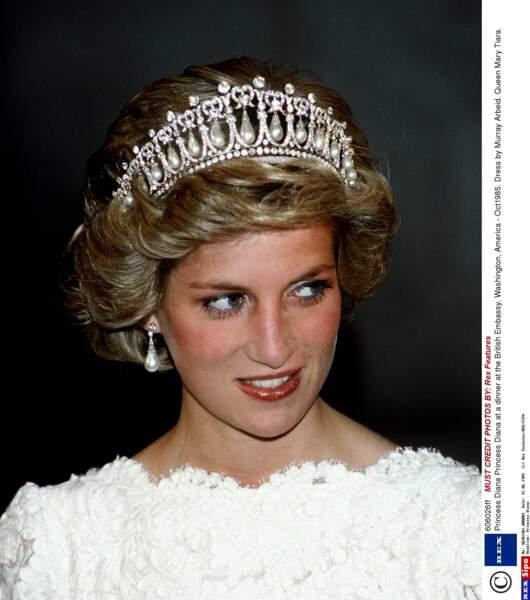 Lady Di et sa tiare favorite en 1985