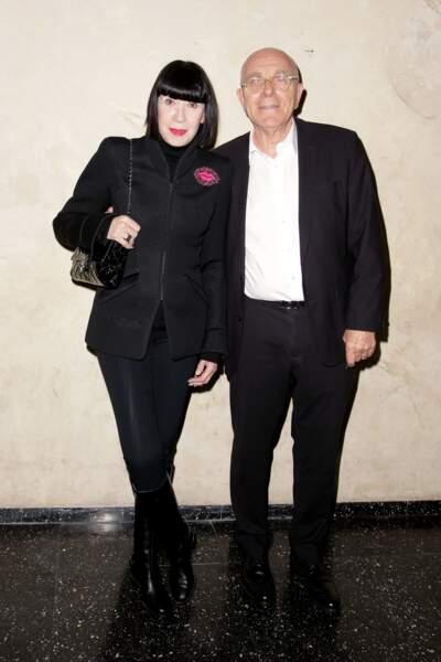 Soirée en hommage à Danielle Darrieux : Chantal Thomass et son mari Michel Fabian
