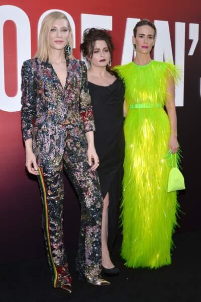 Cate Blanchett, Helena Bonham Carter et Sarah Paulson