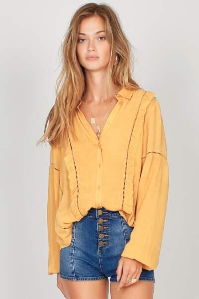 Blouse jaune, Amuse Society, 79 euros