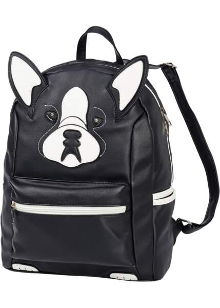 Pour partir en week-end, sac à dos chien, Bonprix, 28,99€