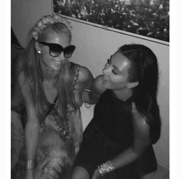 Kim retrouve son ex BFF Paris Hilton. Ça respire l'amitié hein ?