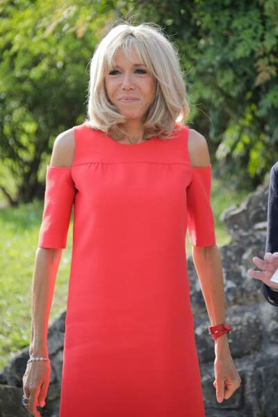 Brigitte Macron à Espelette, dimanche 25 août