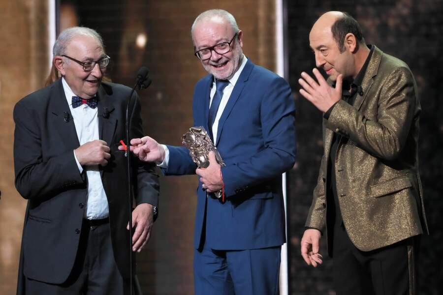 Kad Merad a fait appel à son père Mohamed pour remettre le César du public à son ami Olivier Baroux