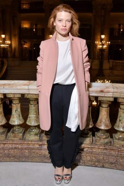 Mélanie Thierry, au défilé Stella McCartney lors de la fashion week de Paris, le 5 mars 2018