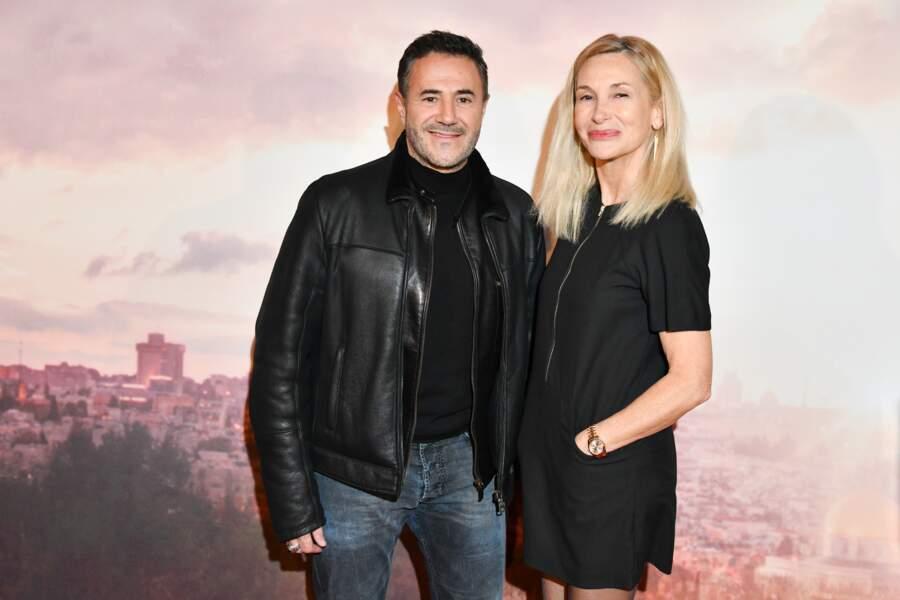 José Garcia et son épouse Isabelle Doval à l'avant-première d'Holy Lands, le 4 décembre à Paris