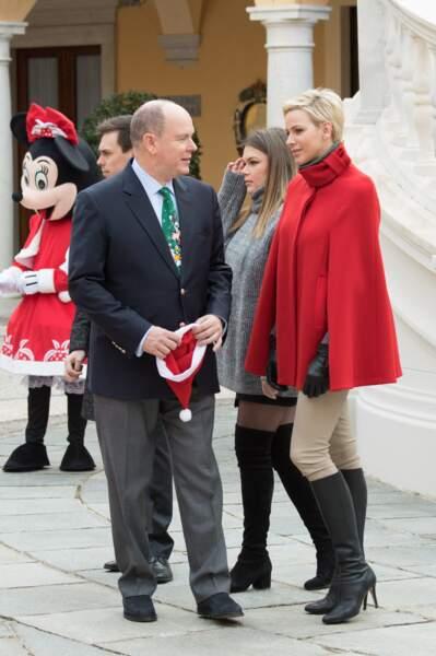"""Albert II, Camille Gottlieb et Charlène de Monaco pour """"L'arbre de Noël du Palais Princier"""" le 20 décembre"""