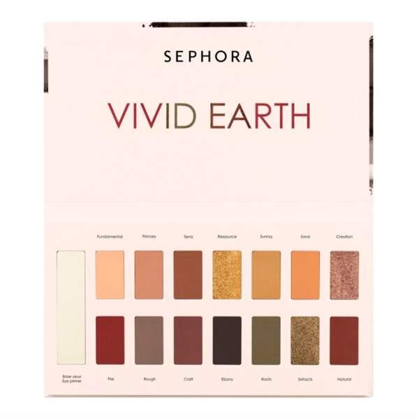Palette Vivid Earth Rough Nature, Sephora Collection, 22,99€