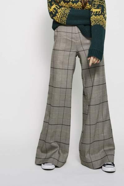 Pantalon évasé à carreaux, Eleven Paris, 145€