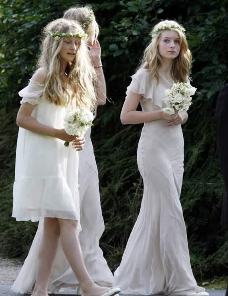En 2011, Lottie (à droite) avait été remarquée au mariage de Kate Moss
