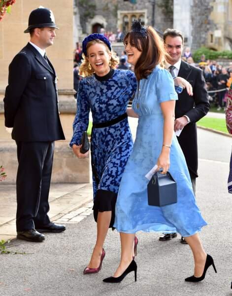 Cressida Bonas (à gauche) au mariage de la princesse Eugenie et Jack Brooksbank