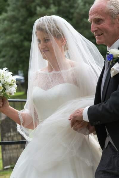 Mariage de Celia McCorquodale et George Woodhouse : la mariée