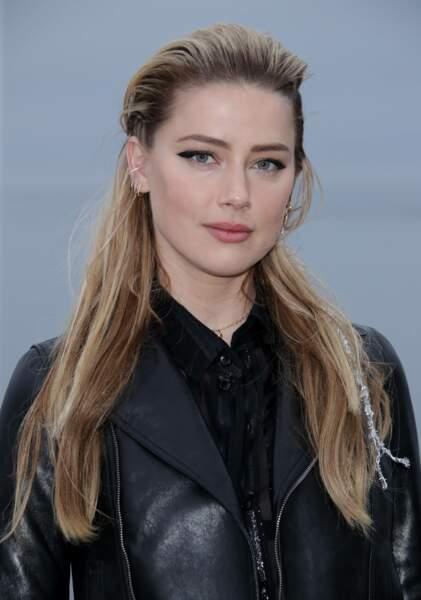 Amber Heard au défilé Saint Laurent à Malibu, jeudi 6 juin