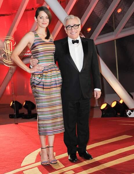 Marion Cotillard et Martin Scorsese