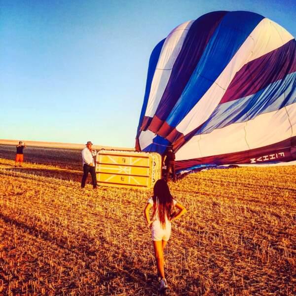 Petite balade en montgolfière pour Jade, Joy et leur maman