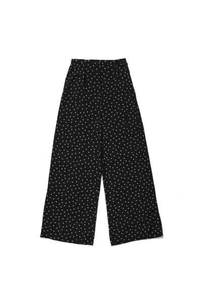 Pantalon Paolo noir à pois, Balzac, 110 euros