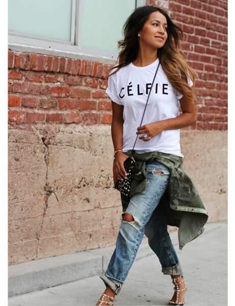 Tee-shirt CELFIE Sincerely Jules : 39$
