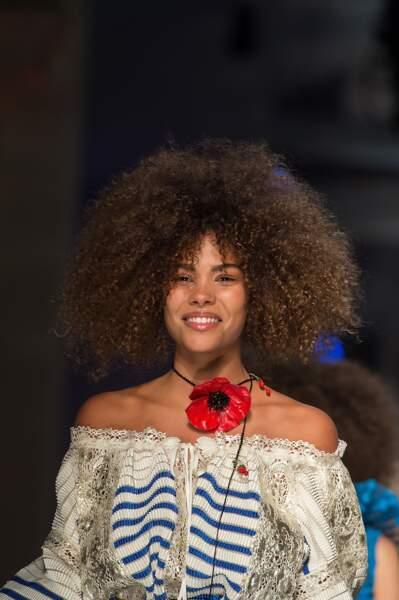 Tina Kunakey, l'amoureuse de Vincent Cassel était elle aussi sur le podium