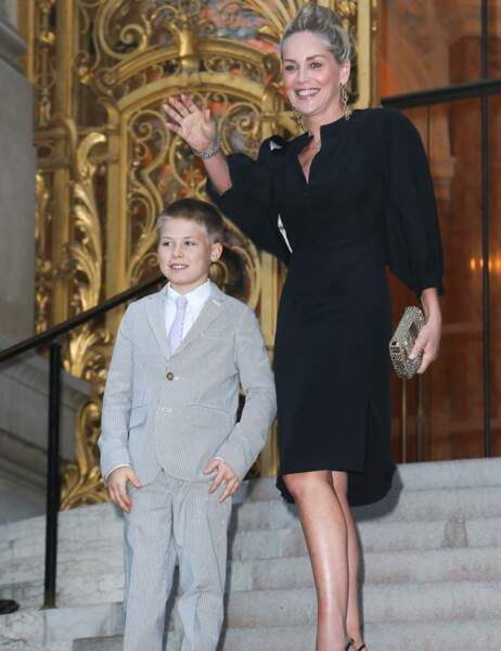 À 13 ans, le petit Roan est déjà craquant, et ce n'est pas Sharon Stone qui dira le contraire