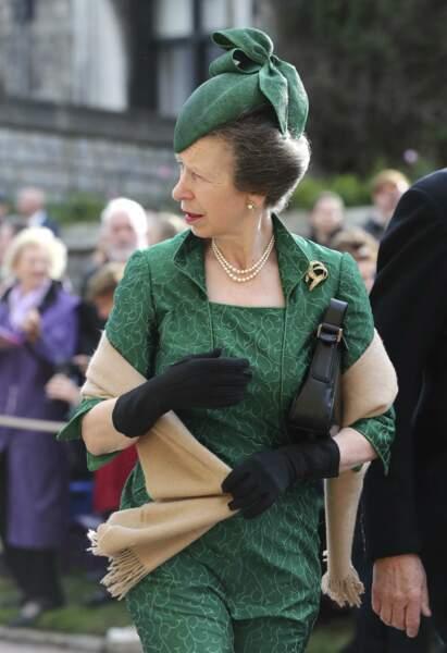 Le princesse Anne au mariage de la princesse Eugenie et Jack Brooksbank