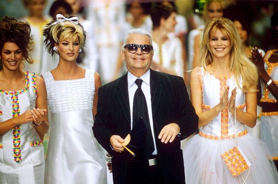 L'évolution physique de Karl Lagerfeld : le créateur en 1996