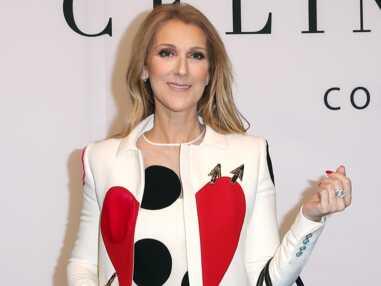 Céline Dion : en cuissardes pour présenter sa collection de maroquinerie