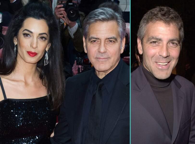 George Clooney aujourd'hui à 54 ans et à 38 ans, l'âge actuel de sa femme Amal Clooney